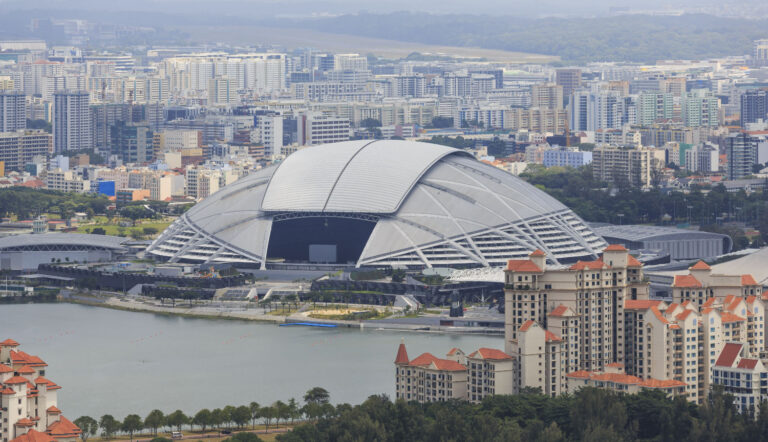 Singapore National Stadium is 8 minutes cycle from Mori